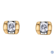 10kt Yellow Gold 0.06ct Tension Set Diamond Earrings