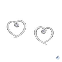 10kt White Gold 0.31ct Diamond Heart Earrings