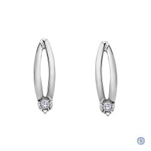 10kt White Gold 0.04ct Diamond Earrings
