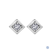 10kt White Gold 0.08ct Diamond Stud Earrings