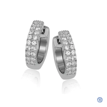 Simon G Diamond HOOP EARRING
