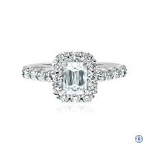 Emerald Christopher Designs Crisscut Diamond Engagement Ring