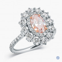 18kt White and Rose Gold 1.01ct Pink Diamond Engagement Ring