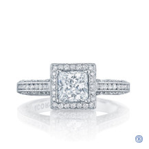 Moissanite Tacori Classic Crescent Engagement Ring