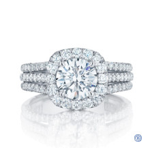 Tacori Petite Crescent 18kt White Gold 1.00ct Diamond Engagement Ring