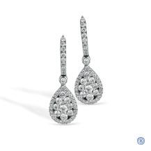 Simon G 18kt White Gold Diamond Earrings
