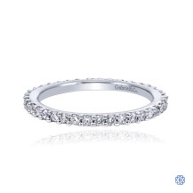 Gabriel & Co. 14kt White Gold Diamond Band