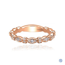 Gabriel & Co. 14kt Rose Gold Diamond Stackable Ring