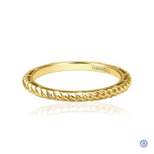 Gabriel & Co. 14K Yellow Gold Twisted Rope Stackable Ring
