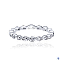Gabriel & Co. 14kt White Gold Diamond Stackable Ring