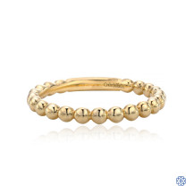 Gabriel & Co. 14K Yellow Gold Beaded Stackable Ring