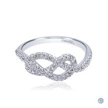 Gabriel & Co. 14kt White Gold Diamond Knot Ring