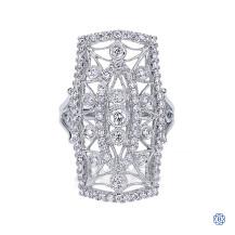 Gabriel & Co. 14kt White Gold Diamond Ring