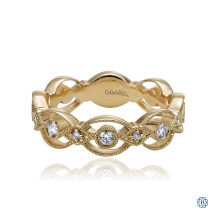 Gabriel & Co. 14kt Yellow Gold Diamond Stackable Ring
