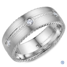 Crown Ring Diamond Wedding Band