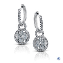 Simon G 18kt white gold diamond earrings