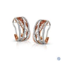 Simon G 18kt white and rose gold diamond Earrings