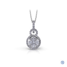 Simon G Diamond pendant with chain