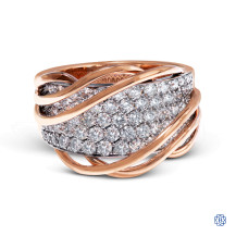 Simon G 18kt rose and white gold diamond Ring