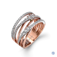 Simon G 18kt rose gold diamond ring