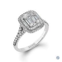 Simon G 18kt White Gold Diamond Engagement Ring