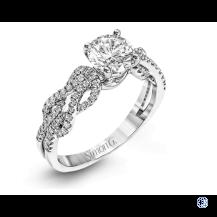 Simon G 18kt White Gold Moissanite Engagement Ring