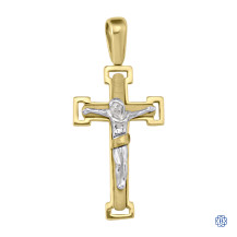 Yellow and White Gold Crucifix