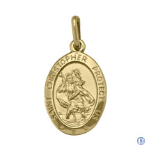 Solid Gold St. Christopher Pendant