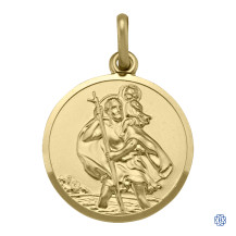 10kt Yellow Gold St. Christopher Pendant