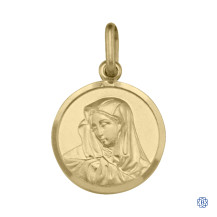 Yellow Gold Madonna Pendant