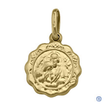 Yellow Gold Communion Pendant
