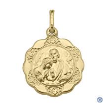 Yellow Gold Communion Pendant