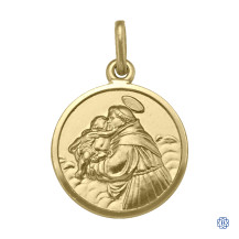 Yellow Gold St. Anthony Pendant