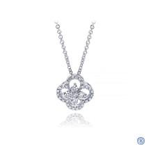 Gabriel & Co. 14kt White Gold Diamond Necklace