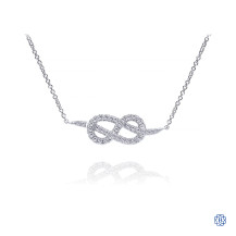 Gabriel & Co. 14kt White Gold Diamond Eternal Love Necklace