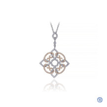 Gabriel & Co. 14kt White & Rose Gold Diamond Necklace