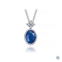 Gabriel & Co. 14kt White Gold Sapphire Diamond Necklace