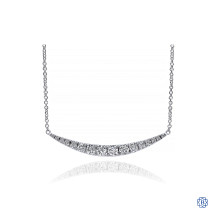 Gabriel & Co. 14kt White Gold Diamond Bar Necklace