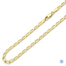 Open Link Style Gold Chain
