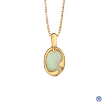 10kt Yellow Gold Opal Pendant