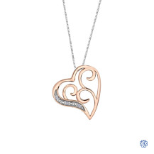10kt Rose Gold Diamond Necklace