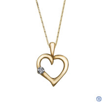 10kt Yellow Gold Diamond Heart Pendant
