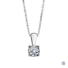 10kt White Gold 0.03ct Claw Set Diamond Pendant
