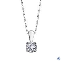 10kt White Gold 0.03ct Claw Set Diamond Pendant