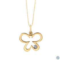 10kt Yellow Gold 0.02ct Butterfly Diamond Pendant