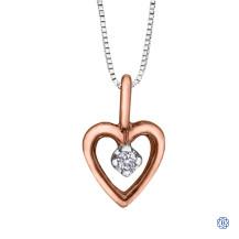 10kt Rose Gold 0.01ct Diamond Heart Pendant