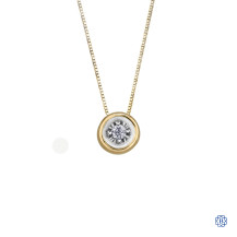 10kt Yellow Gold Doughnut Diamond Pendant