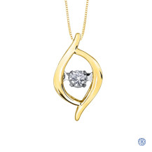 10kt Yellow Gold 0.02ct Tempo Diamond Pendant