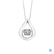 10kt White Gold 0.02ct Tempo Diamond Pendant