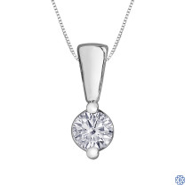10kt White Gold Canadian Diamond Necklace